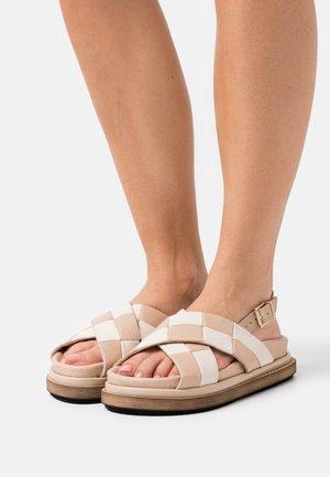 MARSHMALLOW SCACCHI - Sandals - stone beige