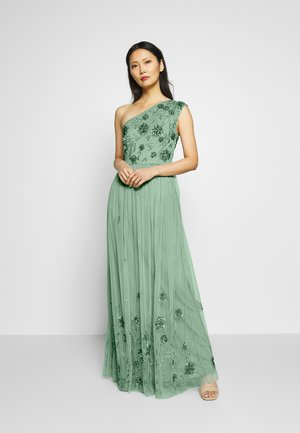 ONE SHOULDER EMBELLISHED MAXI DRESS - Robe de cocktail - green