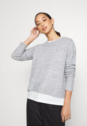 PCSANAIA O-NECK - Jumper - light grey melange