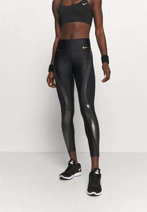 ICNCLSH SPEED - Legginsy - black/metallic gold