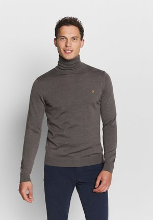 GOSFORTH ROLL NECK EXTRA  - Stickad tröja - rich grey