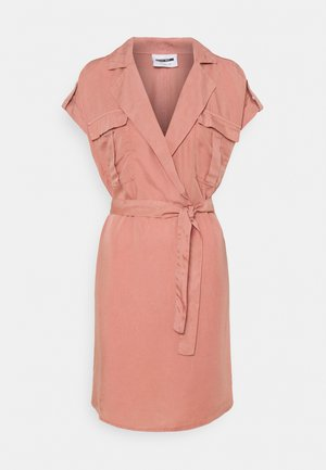 NMVERA ENDI SHIRT DRESS - Day dress - old rose