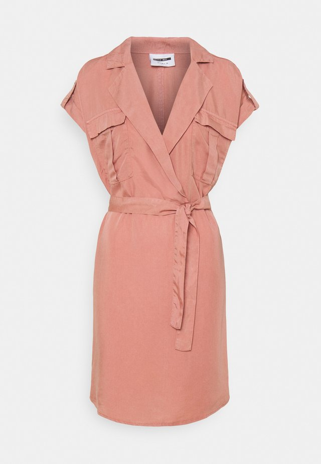 NMVERA ENDI SHIRT DRESS - Korte jurk - old rose