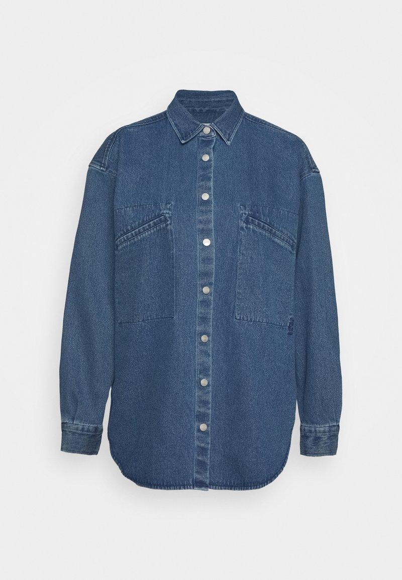 CLOSED - ALIZA - Button-down blouse - mid blue