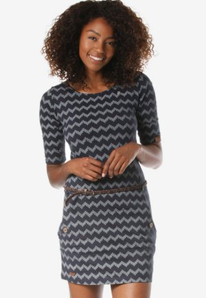 TANYA ZIG ZAG  - Jersey dress - blue