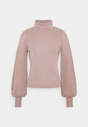 HARDY POINTELLE SLEEVE JUMPER - Jersey de punto - taupe/pink