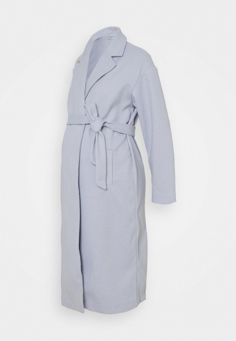 MAMALICIOUS - MLSVEA COATIGAN - Klasický kabát - light blue