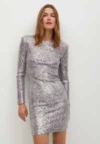 Mango - LENJUELA - Cocktail dress / Party dress - zilver - 0