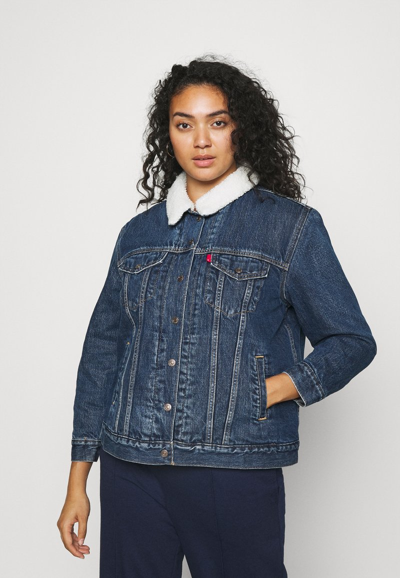 Levi's® Plus - TRUCKER - Denim jacket - blue denim