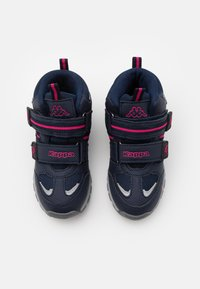 Kappa - HOVET TEX UNISEX - Hiking shoes - navy/pink - 3