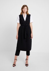 Banana Republic - MAXI TRENCH - Trench - black - 0