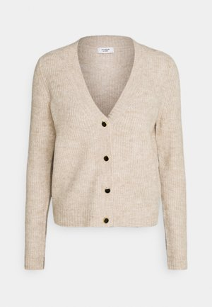 JDYGAMMY BUTTON CARDIGAN - Cardigan - beige