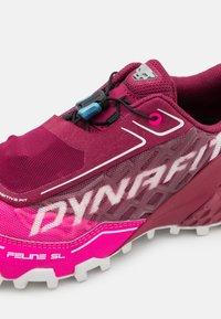 Dynafit - FELINE SL - Trail running shoes - beet red/pink glow - 5