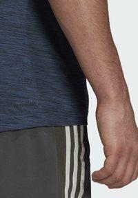 adidas Performance - M HT EL TEE - T-shirts basic - blue - 5