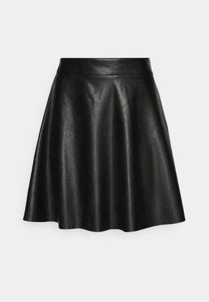 FLIPPY MINI SKIRT - Mini skirt - black