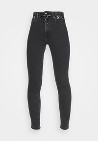 Calvin Klein Jeans - HIGH RISE SKINNY - Jeans Skinny Fit - black with eyelet - 4