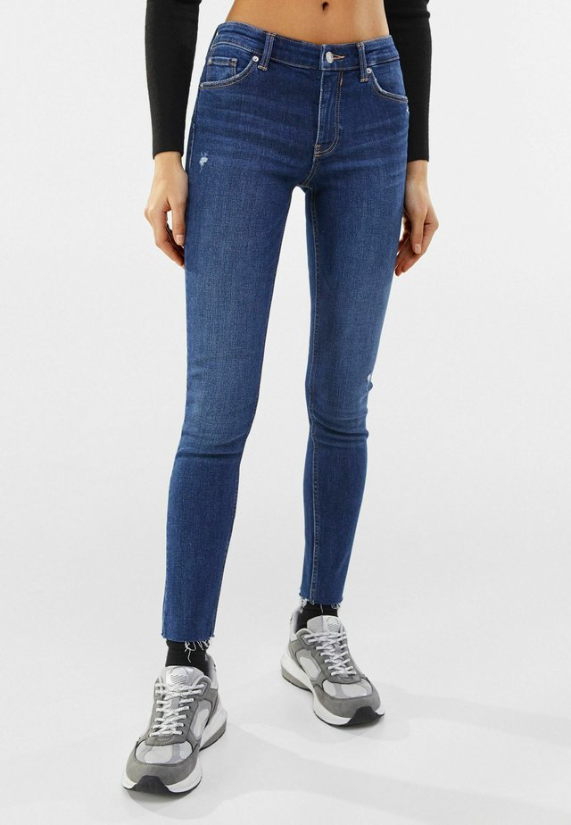 LOW WAIST PUSH UP - Jeans Skinny - dark blue
