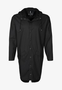 Rains - LONG JACKET UNISEX - Vodotěsná bunda - black - 0