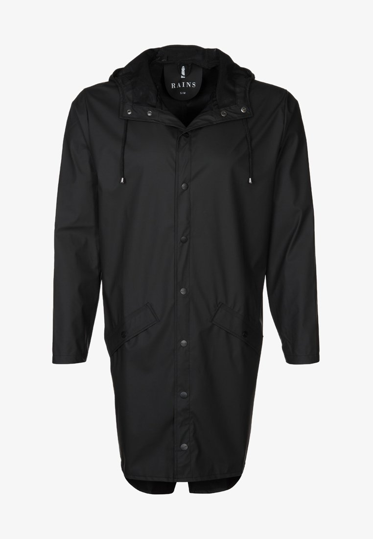 Rains - LONG JACKET UNISEX - Vodotěsná bunda - black