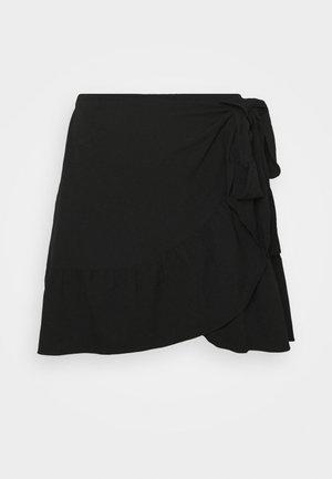 VMCITA BOBBLE WRAP SKIRT CURVE - Mini skirt - black