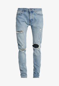 Topman - BLOWOUT - Jeans Skinny Fit - blue - 4