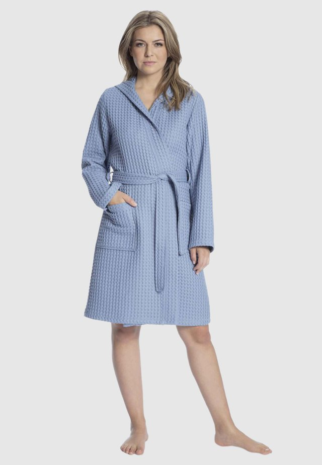 MIT KAPUZE - Dressing gown - blue