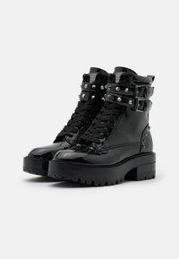 Guess - FLORICE - Cowboy/biker ankle boot - black - 2