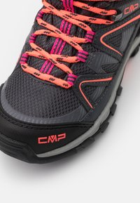 CMP - KIDS SHEDIR MID SHOE WP UNISEX - Hiking shoes - antracite/red fluo - 5