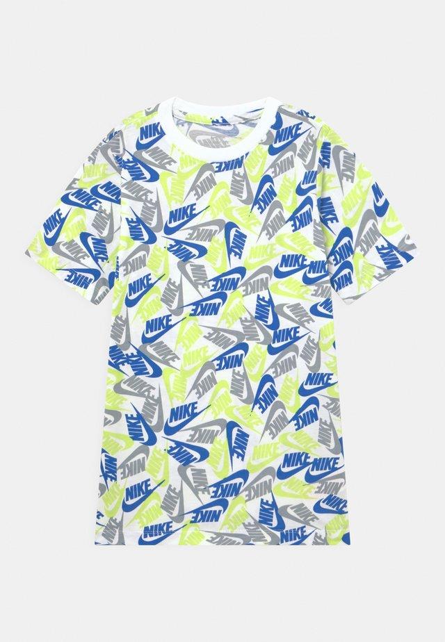 TEE FUTURA - T-shirt z nadrukiem - white