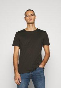 Burton Menswear London - SHORT SLEEVE CREW 10 PACK - T-shirt basic - charcole/navy - 1