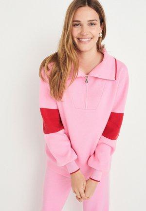 SOFT KNITTED HALF ZIP - Sweatshirt - pink