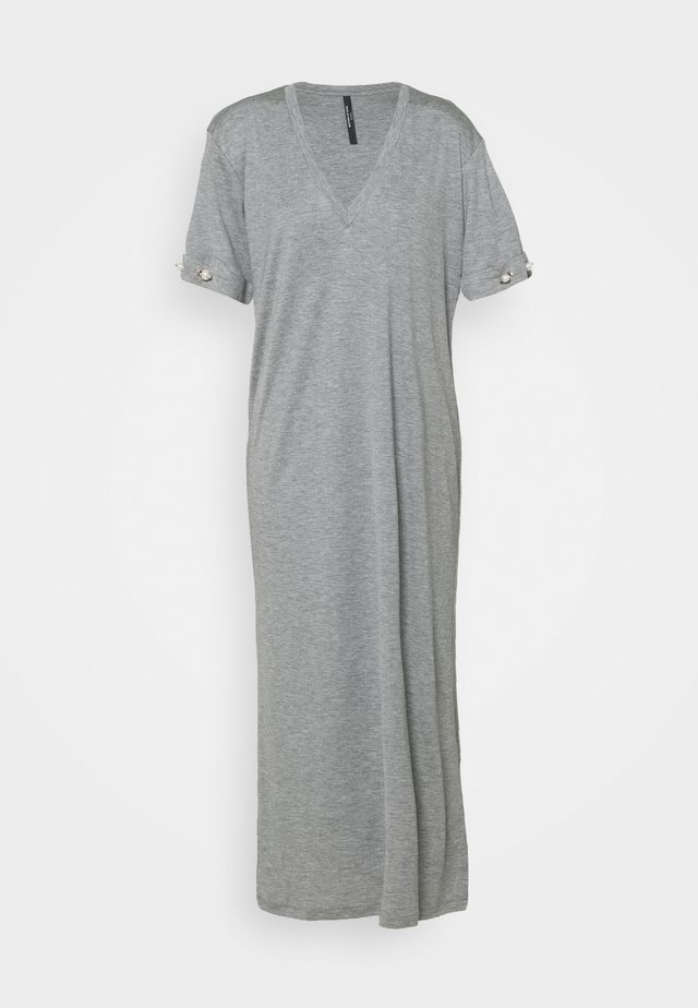 V NECK DRESS WITH BARS - Jersey dress - grey