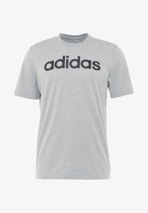 LIN TEE - Print T-shirt - medium grey heather/black