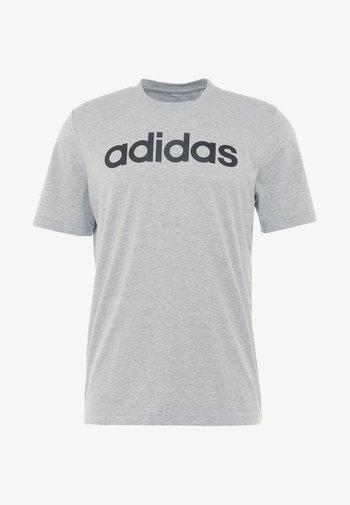 LIN TEE - T-shirt med print - medium grey heather/black