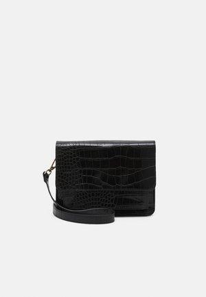 BAG CROCO KEIRA - Across body bag - black