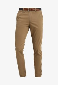 Selected Homme - SLHSLIM JAMERSON PANTS - Chinosy - dark camel - 3