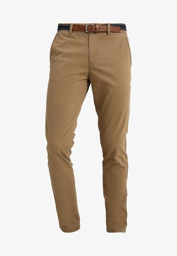 SLHSLIM JAMERSON PANTS - Chino kalhoty - dark camel