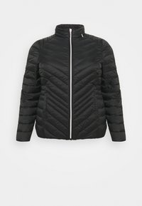 CAPSULE by Simply Be - LIGHTEWEIGHT PADDED SHORT COAT - Light jacket - black - 0