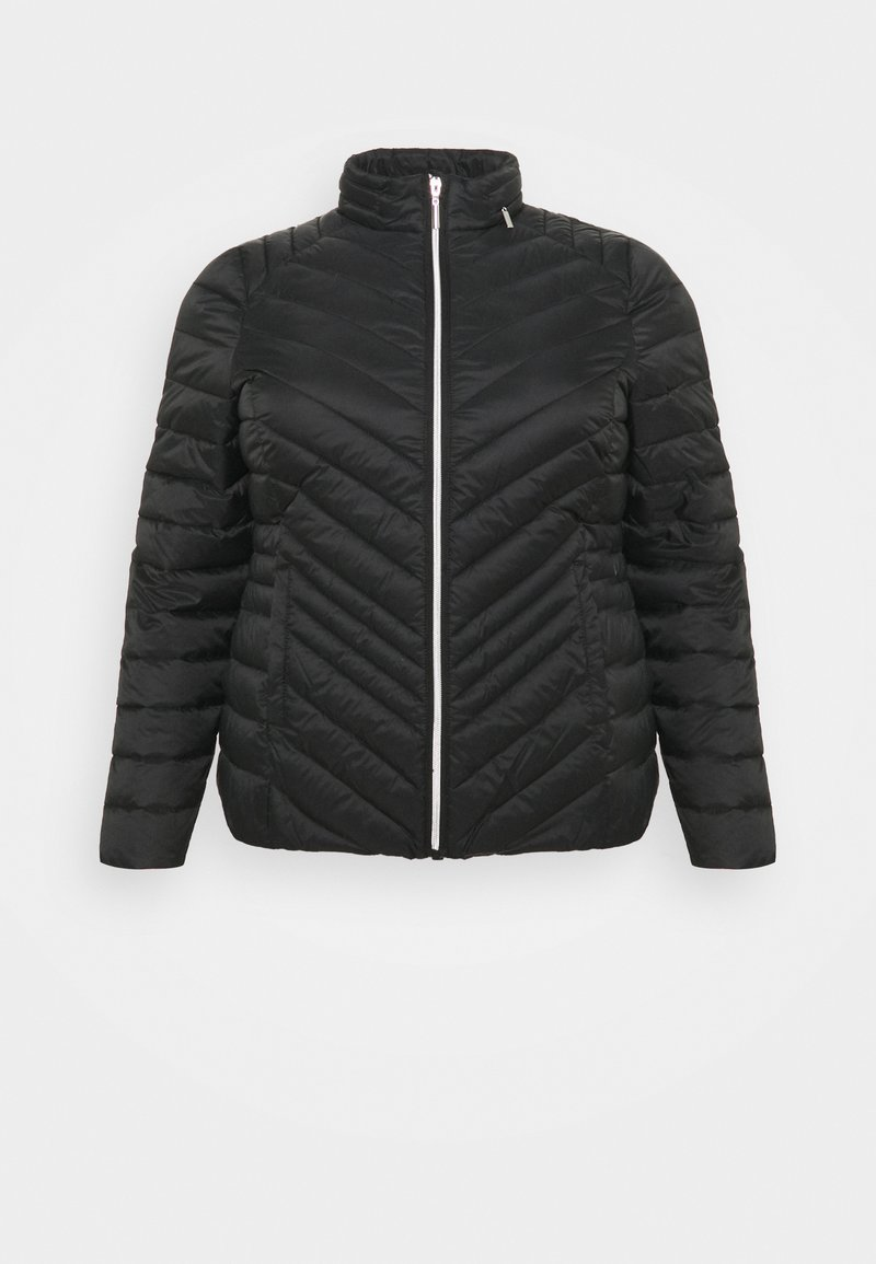 CAPSULE by Simply Be - LIGHTEWEIGHT PADDED SHORT COAT - Light jacket - black