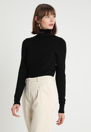 MILA ROLLNECK - Strikkegenser - black