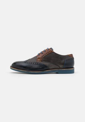 Zapatos de vestir - dark blue/grey