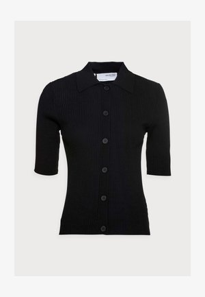 SLFALLY POLONECK - Cardigan - black