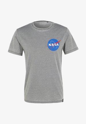 NASA POCKET LOGO - Print T-shirt - grau