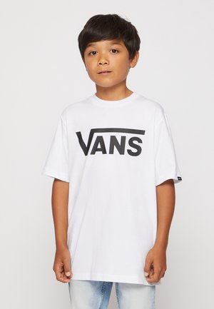 BY VANS CLASSIC BOYS - T-shirt con stampa - white/black