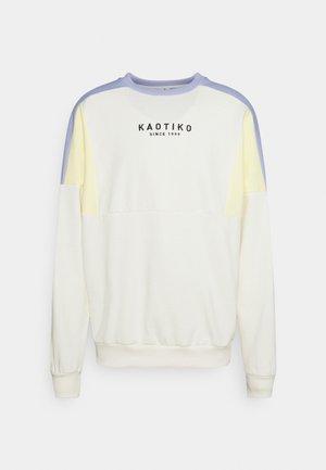 CREW SPIKE UNISEX - Sweatshirt - ivory/yellow/grape/