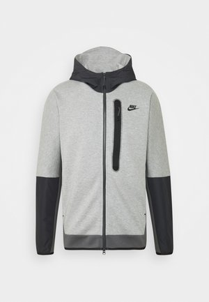 HOODE MIX - Mikina na zip - dark grey heather/iron grey/black