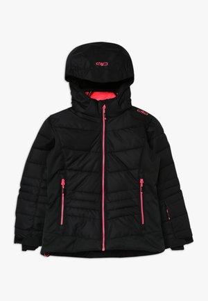 GIRL JACKET SNAPS HOOD - Lyžařská bunda - nero
