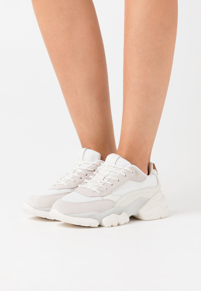 Marc O'Polo - JULIA - Trainers - white/cognac
