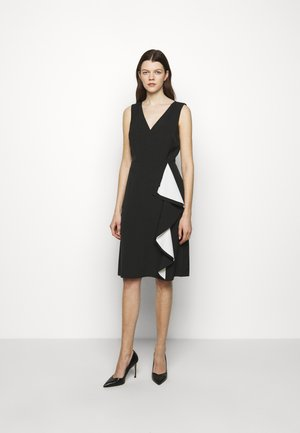 POLISHED 2-TONE DRESS - Vardagsklänning - black/lauren