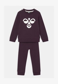 Hummel - ARIN CREWSUIT SET UNISEX - Survêtement - blackberry wine - 0
